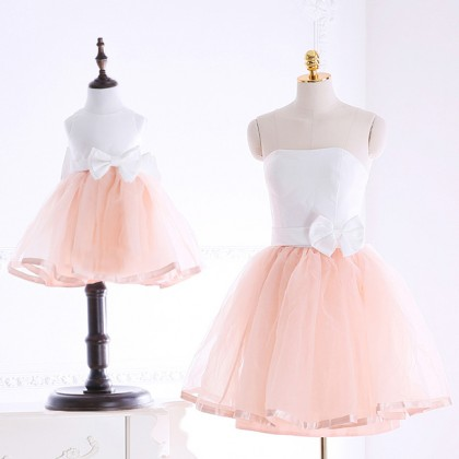 Gal's Night Dress - Light Peach