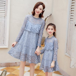 Charming Girl Dress - Dusty Blue