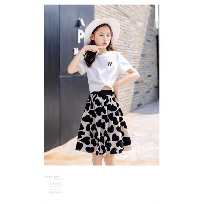 Love Letter Top/Skirt Set - White