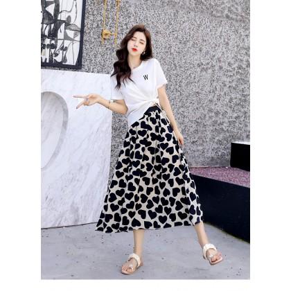 Love Letter Top/Skirt Set - White