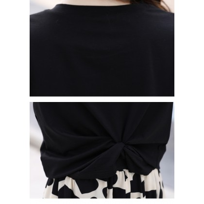 Love Letter Top/Skirt Set - Black