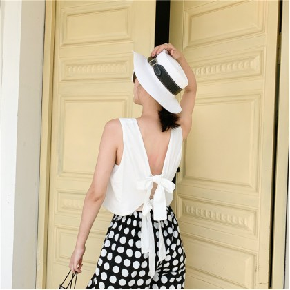 Tie Back Top + Polka Dot Pants Set