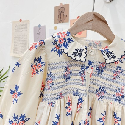 Floral Embroidered Detail Dress