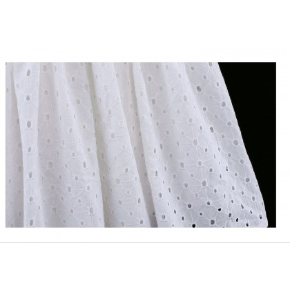 Lantern Sleeve Crochet Dress