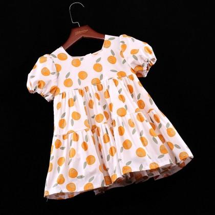 Lemon Tiered Dress