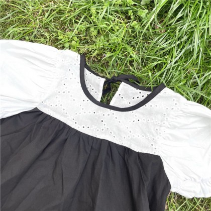 Dress With Contrast Trims